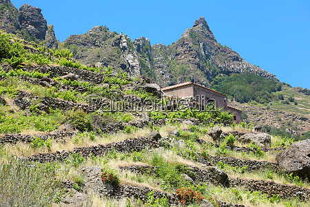 tranquillity isolated house on mountains with