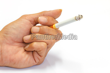 cigarette in hand of men