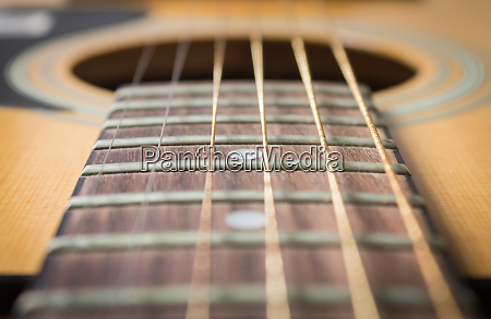 close up fingerboard and inlay of