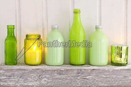decorative still life with bottles