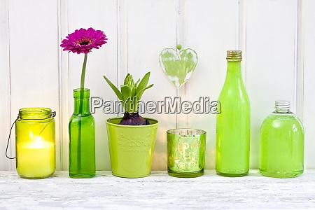 decorative still life in green