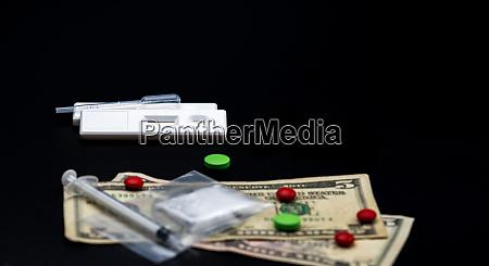two methamphetamine cassette test and plastic