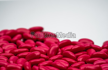 selective focus of red kidney shape