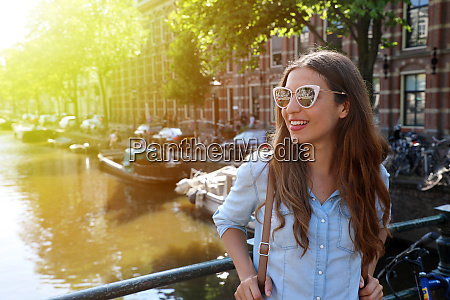 portrait of beautiful cheerful girl with