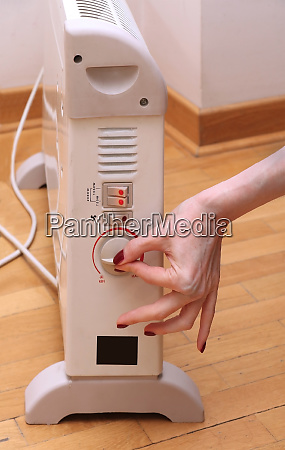 turning heater on