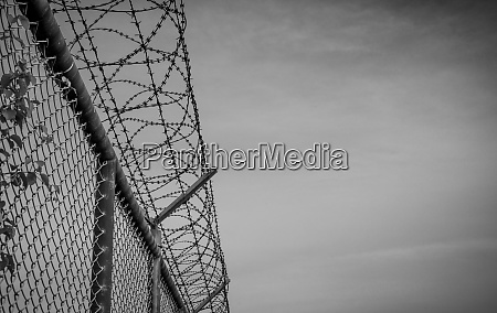 prison security fence barbed wire security
