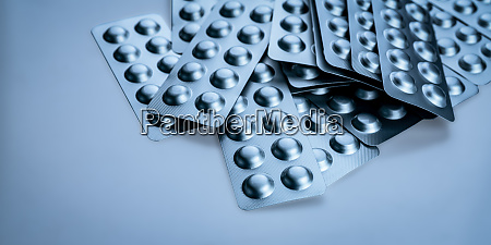 pile of tablets pill in blister