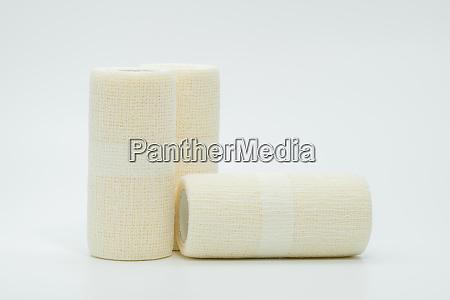 medical cohesive elastic bandage isolated on