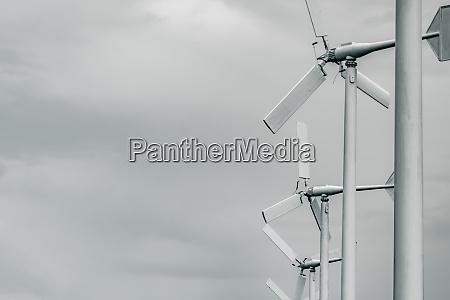 horizontal axis wind turbine with grey