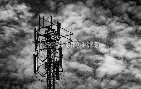 black and white picture of telecommunication