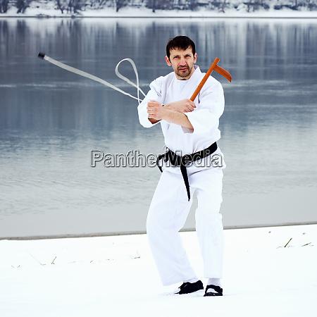 martial arts kusarigama practice