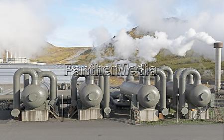 steam separators at a geothermal energy