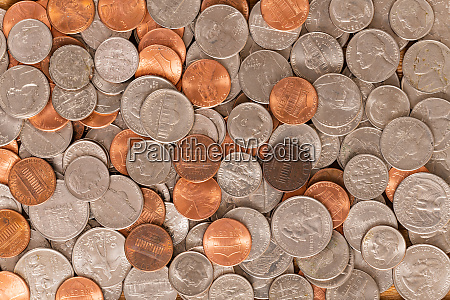 united states various coins background