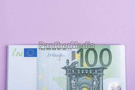 euro banknotes with background