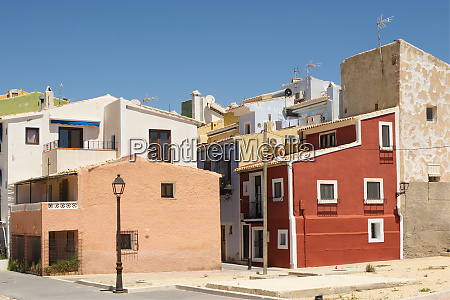seafront at villajoyosa costa blanca spain