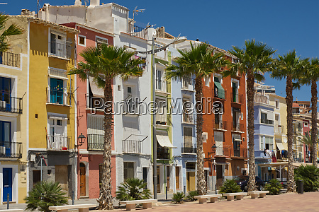 seafront at villajoyosa costa blanca spain