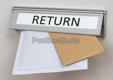 a letterbox with the label return