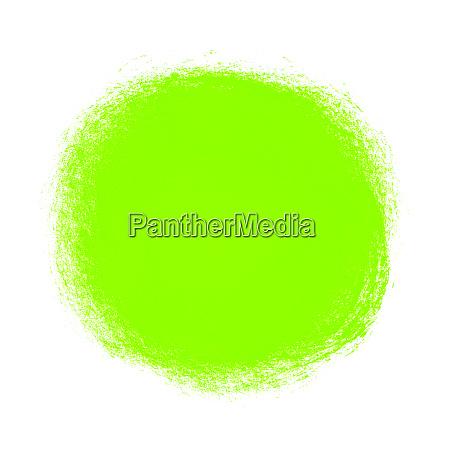isolated green paintbrush circle hand
