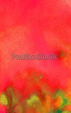 red and green watercolor texture background