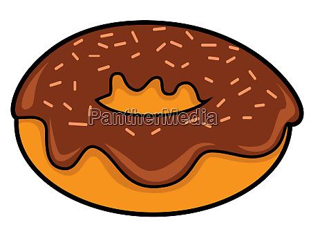 doughnuts choccolate brown sweet bake snack