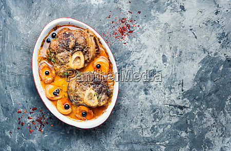 italian meat steak ossobuco