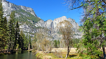 in yosemite valley in california