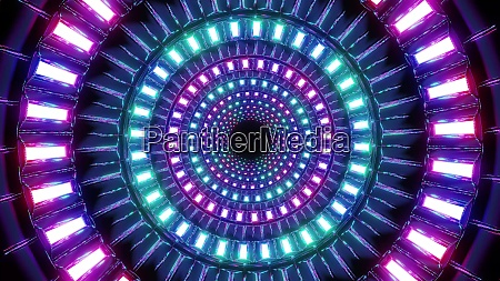 abstract round glowing colorful shapes design