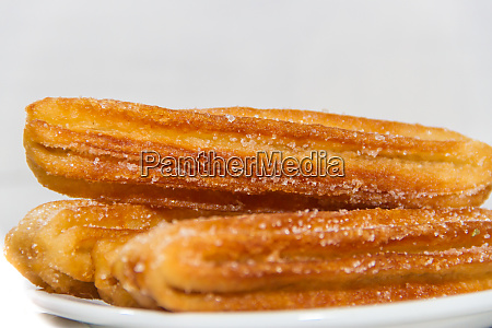 fried churros stuffed typical of spanish