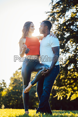 woman and man expressing themselves through