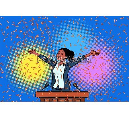 african women winner politician triumph on