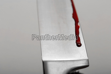 a knife smeared with blood a