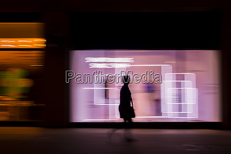 pedestrian in a rush in the