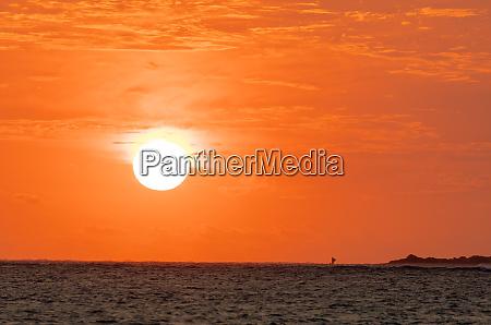 sunset anakao southern madagascar africa