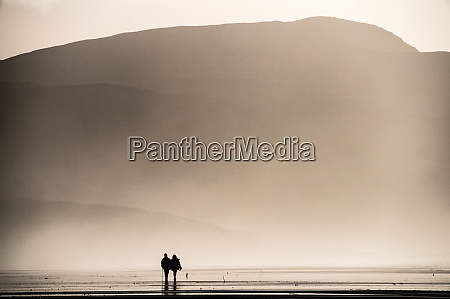 couple taking a sunday afternoon walk