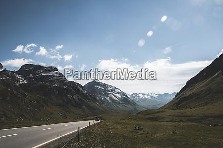 switzerland grisons samedan julier pass road