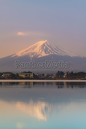 sunrise over mount fuji unesco world