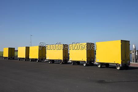 germany deutsche post yellow trailers