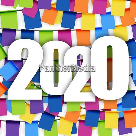garlands background new year 2020
