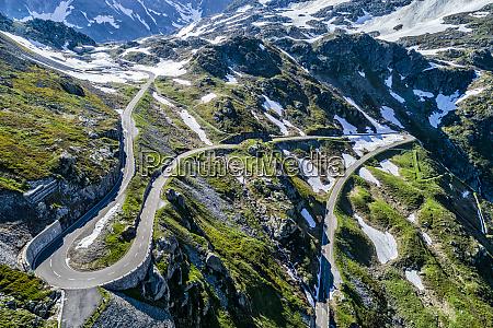 switzerland canton of uri aerial view