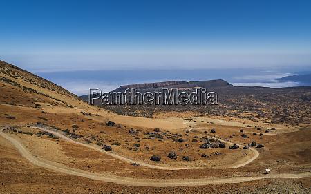 view of el teide volcano teide