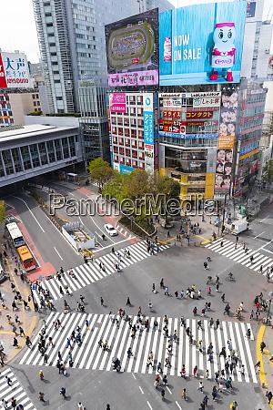 shinjuku crossing tokyo japan asia