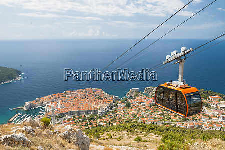 cable car dubrovnik croatia europe