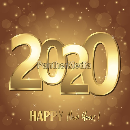happy new year 2020 greetings background