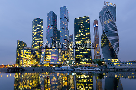 moscow city skyscrapers moscow russia europe