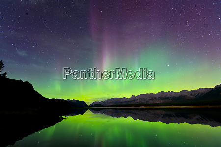 aurora northern lights reflected in lower