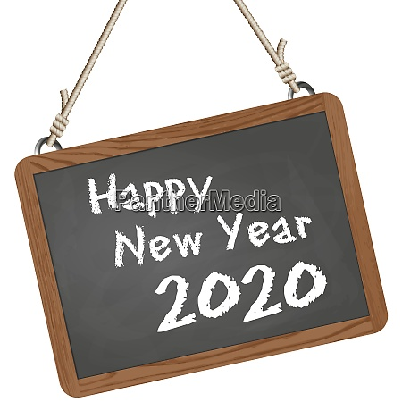 school slate with new year 2020