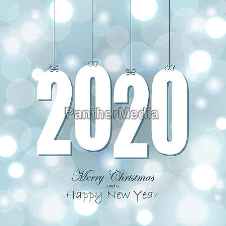 hang tags with year 2020