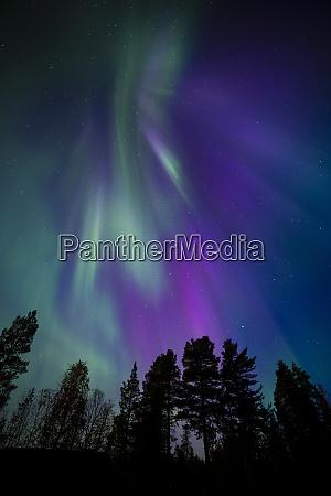 aurora borealis corona muonio finland scandinavia