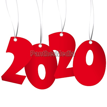 hanging new year 2020 numbers