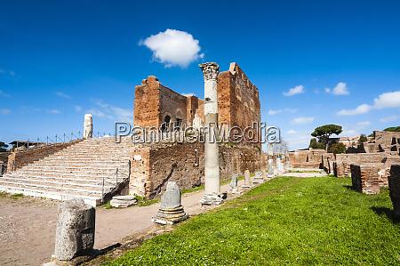 capitolium ostia antica archaeological site ostia
